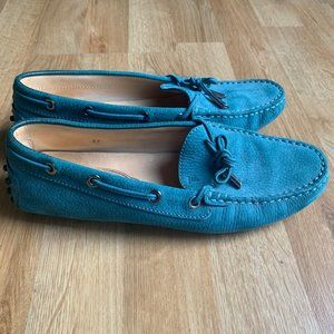 Women's Tod's Suede Driving Loafers in Blue